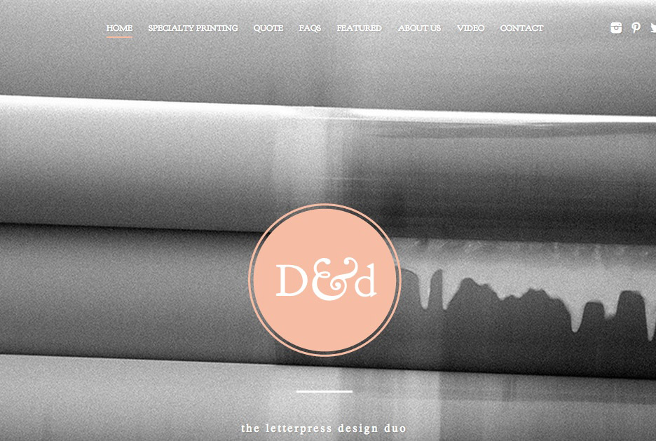 D&D Letterpress – handcrafted print