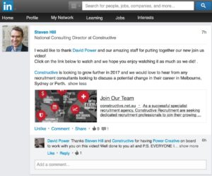 Constructive LinkedIn Client Testimonial